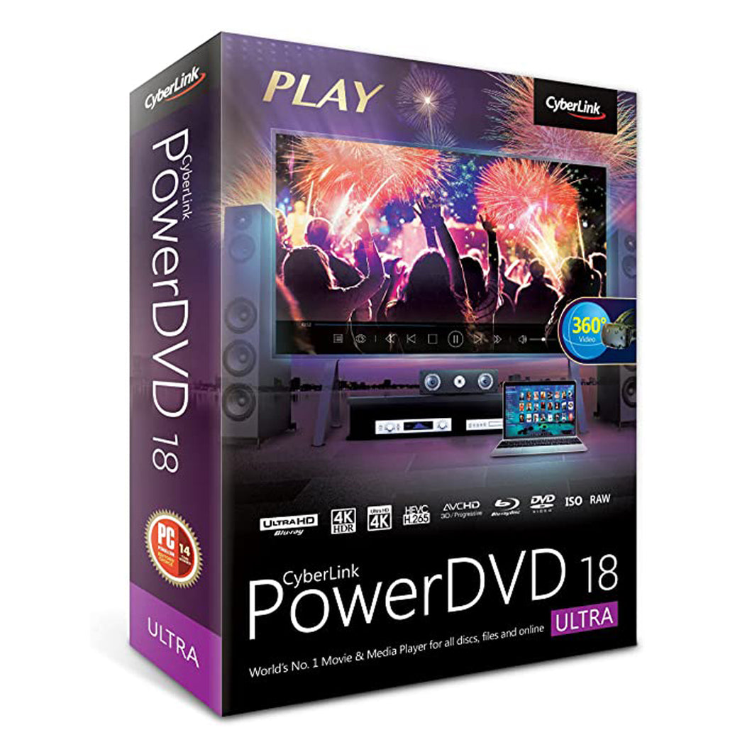 Cyberlink PowerDVD 18 Ultra for Lifetime for Windows