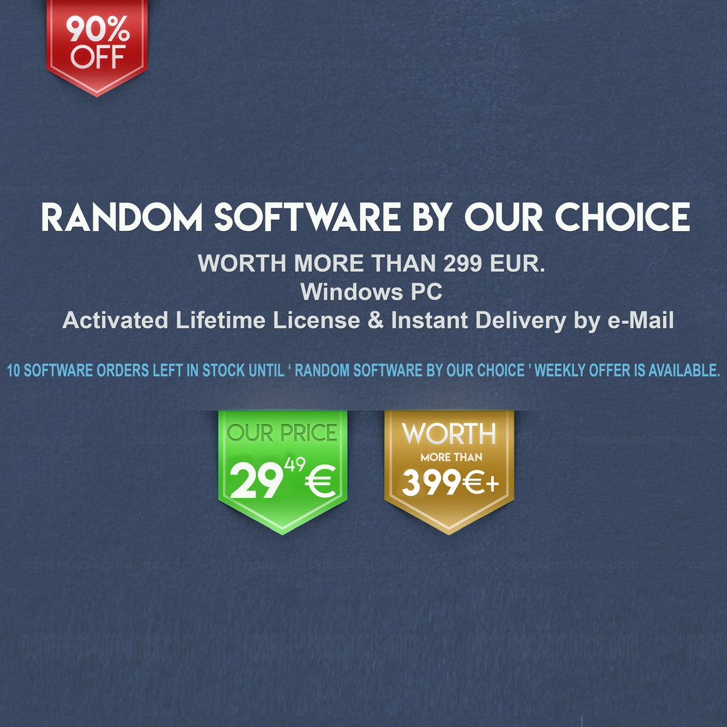 Lifetime Premiere Random Software by Our Choice for Windows | 10 in Stock
