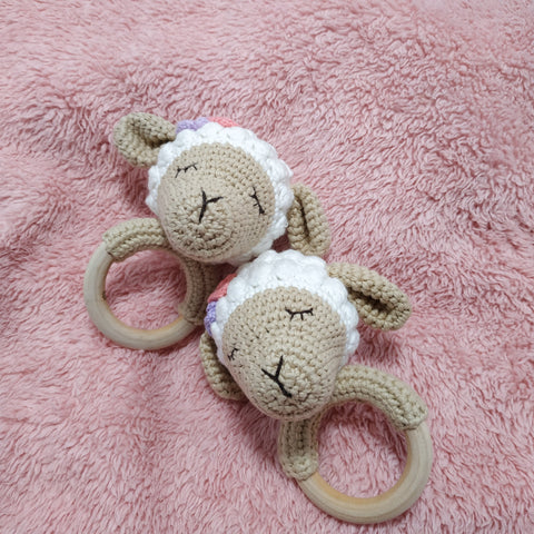 Sleepy Sheep O Ring Rattle