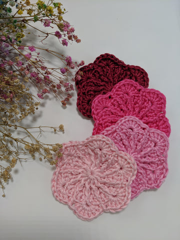 Cherry Blossom Face Scrubbies ( Set of 4 units)