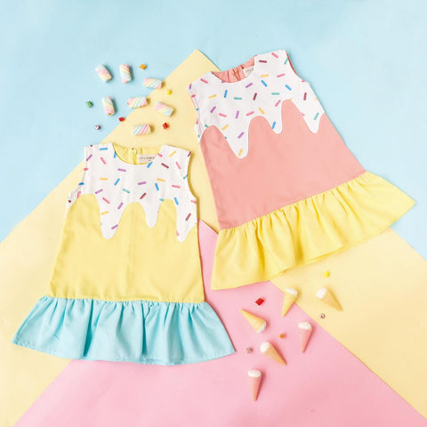 Ice Cream Sleeveless Dress