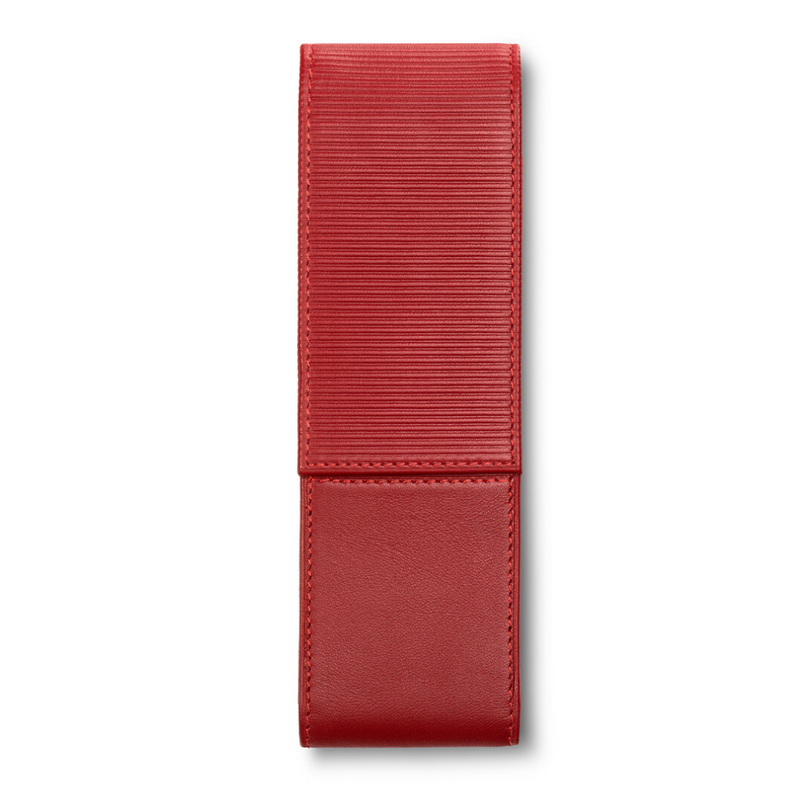 LAMY A 315 Premium Leather Pen Pouch Red for 2 pens