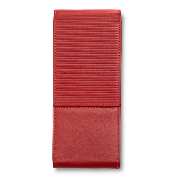 LAMY A 316 Premium Leather Pen Pouch Red for 3 pens