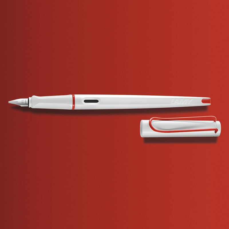 LAMY joy white+red Calligraphy Pen Set - Limited Edition