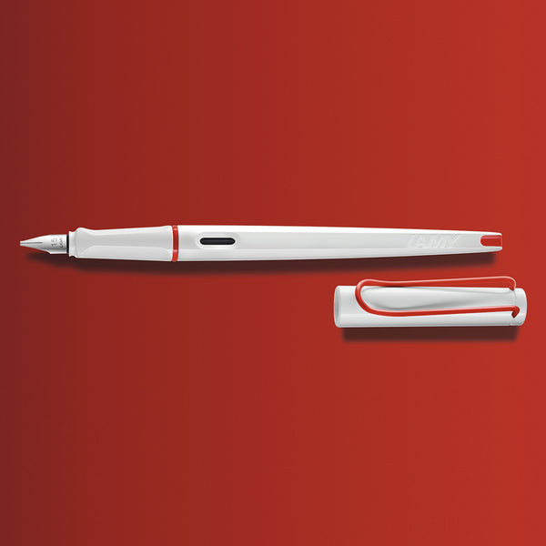 LAMY Joy White+Red Calligraphy Pen - Limited Edition
