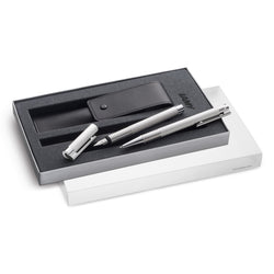 LAMY Logo Brushed Set  – Fountain pen and Ballpoint Pen