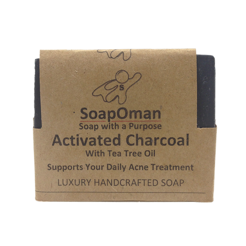 SoapOman - Activated Charcoal Soap - Helps with Acne Treatment