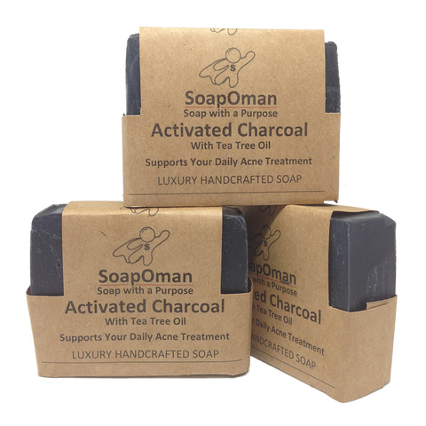 SoapOman - Activated Charcoal Soap - Supports your daily Acne Treatment