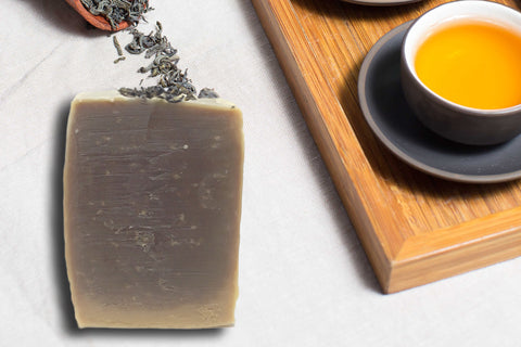 SoapOman - Chinese Green Tea Soap - Good for keeping a young and fresh complextion