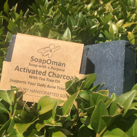 SoapOman - Activated Charcoal Acne Soap - Good for Acne
