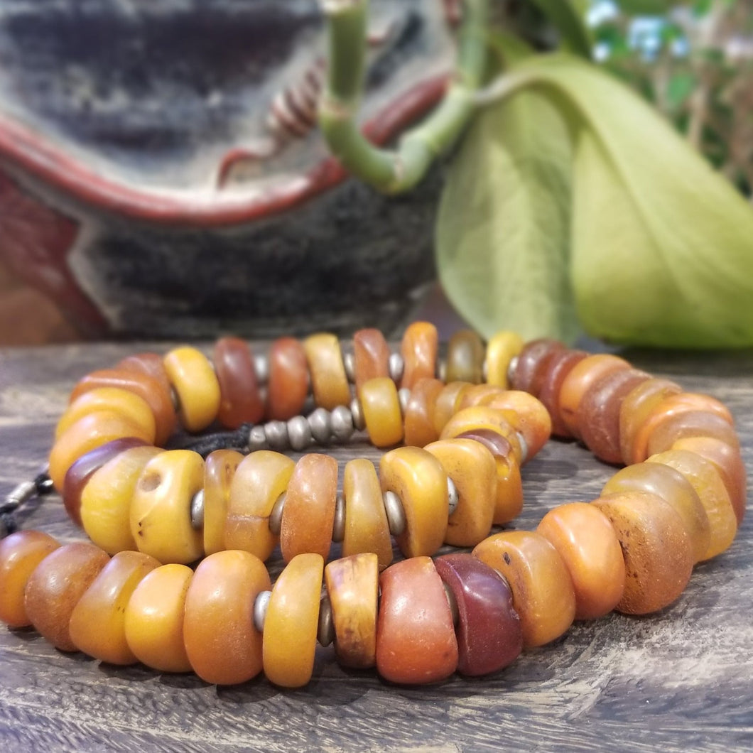 Amber Bead Necklace - Morocco