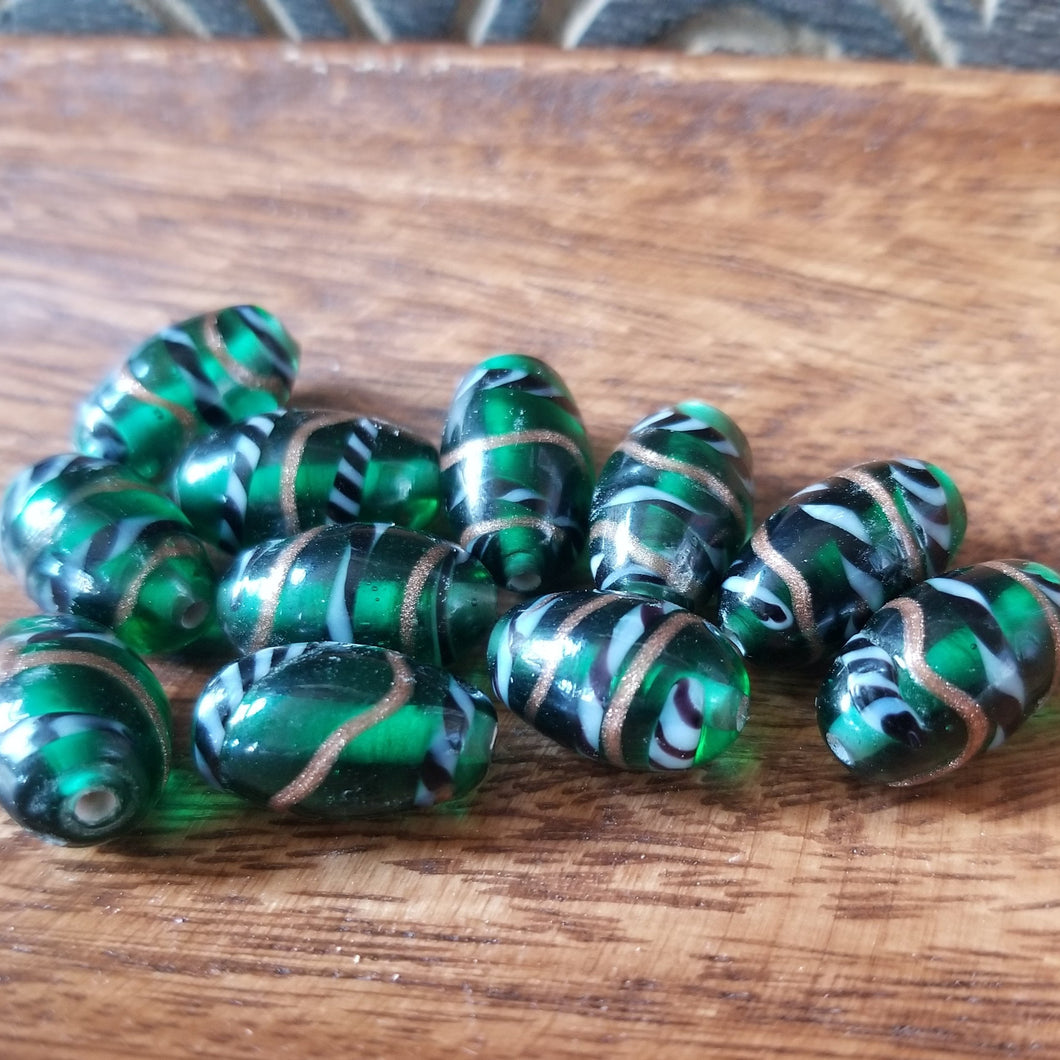 India Glass Foil Beads