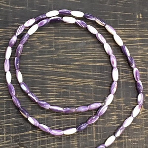 "Wampum ""rice"" Beads (Reserved Listing)"