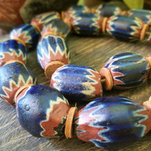 Load image into Gallery viewer, Chevron Beads - Antique Seven Layer with Bodom Bead