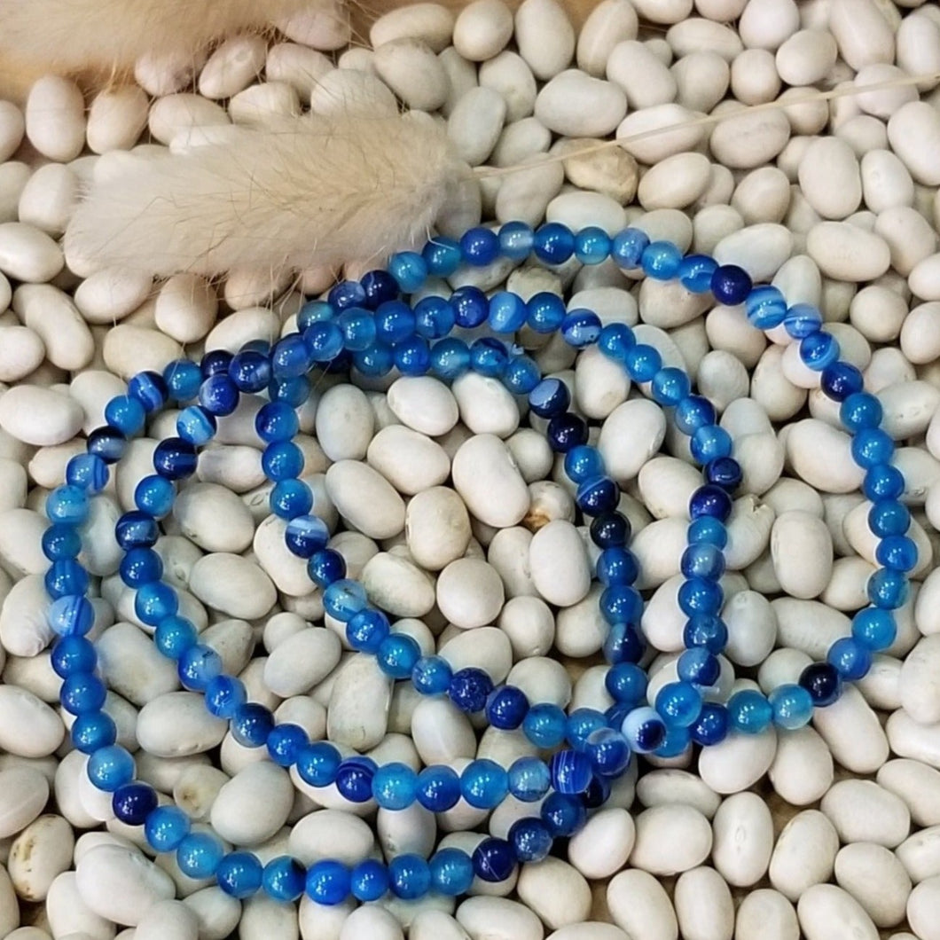Blue Lace Agate Energy Bead Bracelet