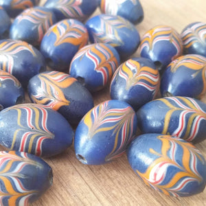 Javanese Combed Glass Feather Beads