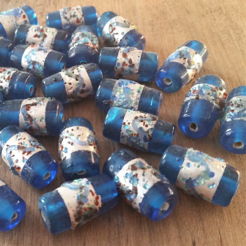 India Glass Crumb Beads