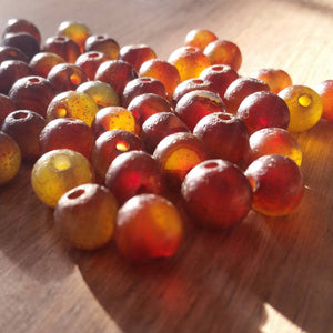 Distressed Agate Beads