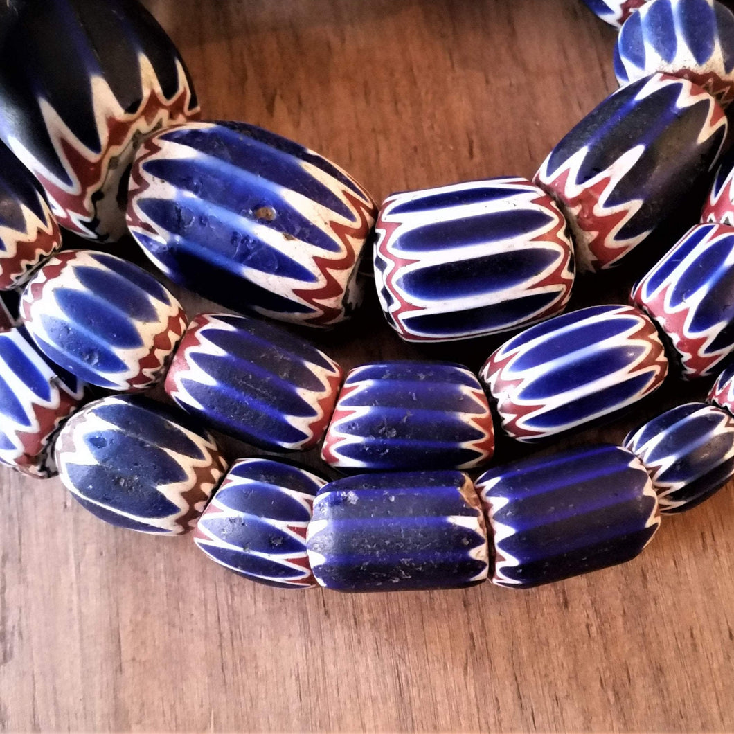 Chevron Beads - Antique Six Layer