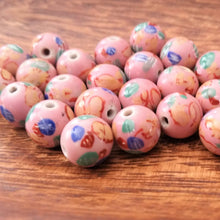 Load image into Gallery viewer, Porcelain Hand Painted Beads