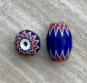 Antique Venetian Chevron Beads