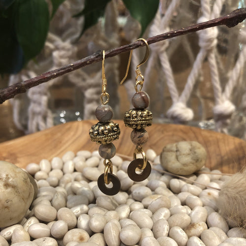 Earrings - Bali Style with Jasper