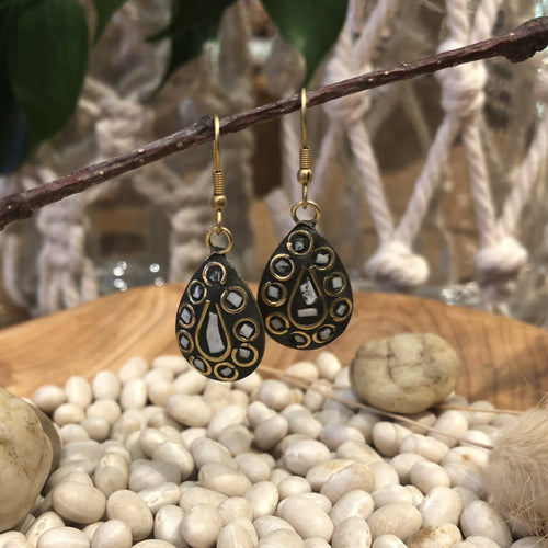 Earrings - Wire Work with Inlay