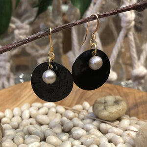 Earrings - Shell and Pearl