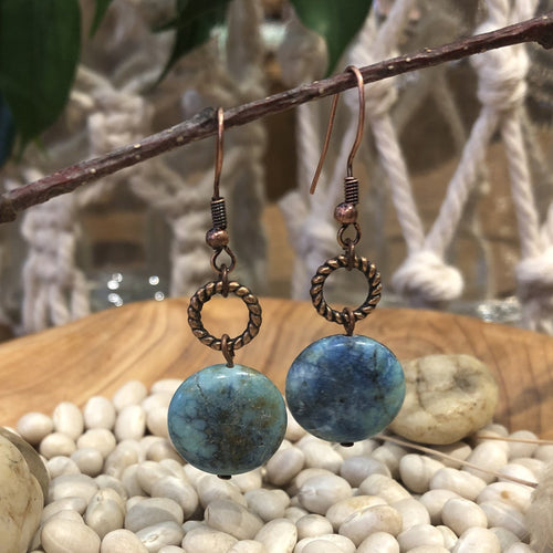 Earrings - Brass and Turquoise