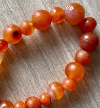 Load image into Gallery viewer, Antique Carnelian Beads of India (bracelet)