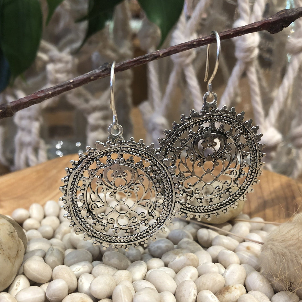 Earrings - Silver Filigree