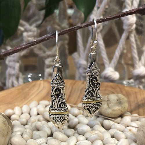 Earrings - Bali Style Silver