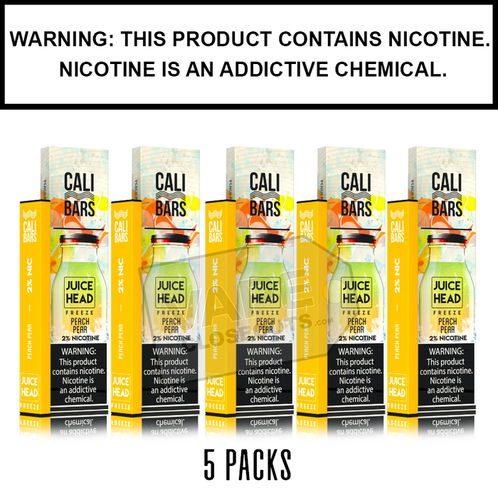 Juice Head Cali Bars Disposable E-Cigs (5-Pack)