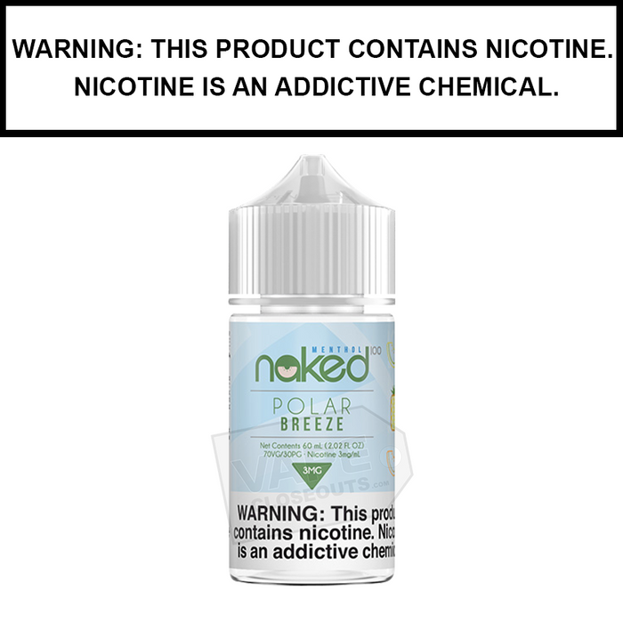 Naked 100 Menthol | Polar Breeze (Formerly Frost Bite) - eJuice (60ml)