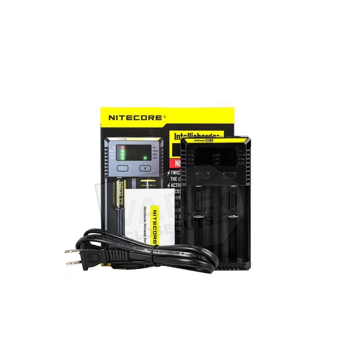 Nitecore I2 IntelliCharger - 2 Bay Battery Charger with LCD Screen