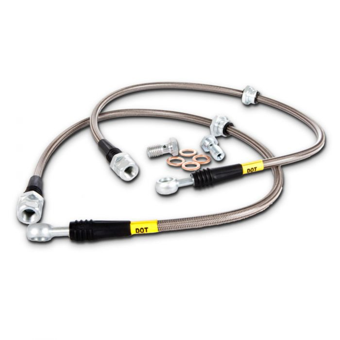 STOPTECH STAINLESS STEEL BRAKE LINES - REAR - 02-07 WRX