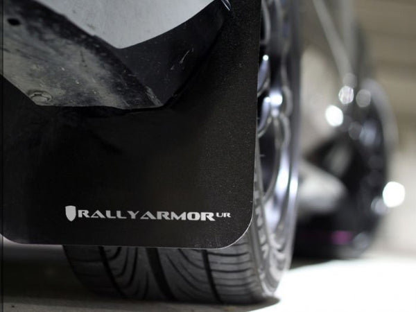 RALLY ARMOR UR MUDFLAPS - BLACK/WHITE LOGO - 12-16 IMPREZA SEDAN/HATCH