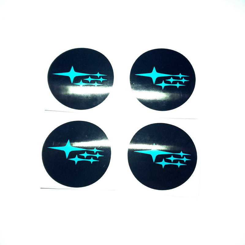 SUBARU STARS WHEEL CENTER CAP OVERLAYS