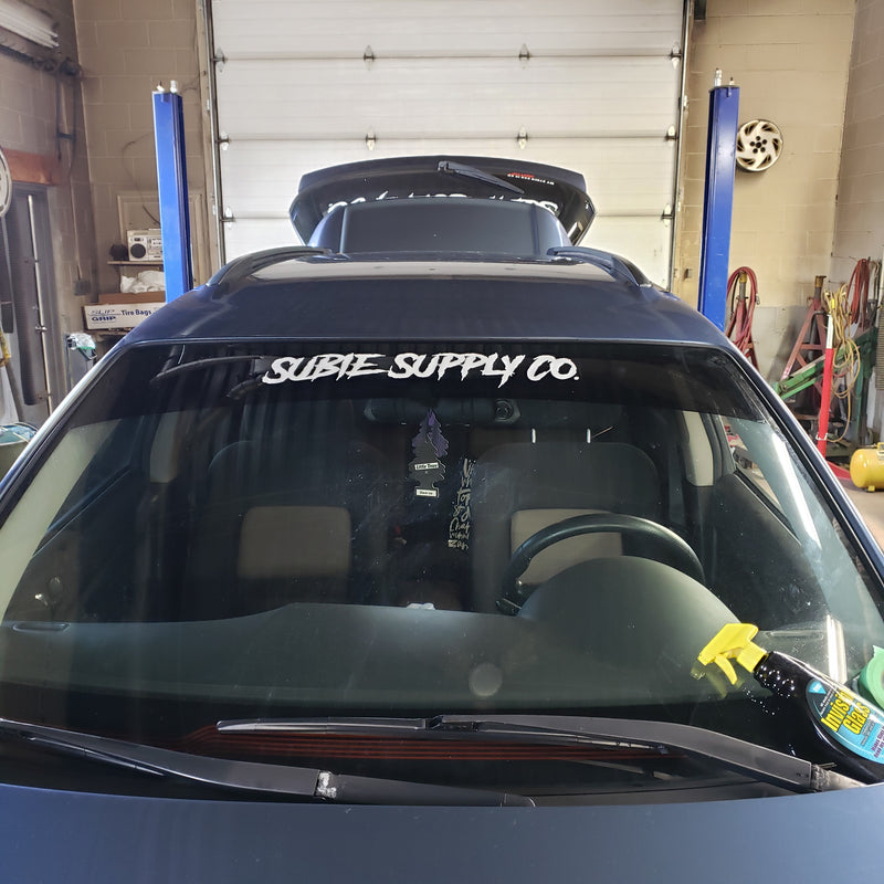 "SUBIE SUPPLY CO 24"" WINDOW BANNER"