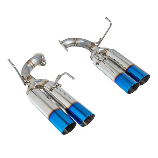 REMARK AXLE BACK EXHAUST - BURNT SINGLE WALL TIPS - BOSO EDITION - 2015+ WRX, 2015+ STI