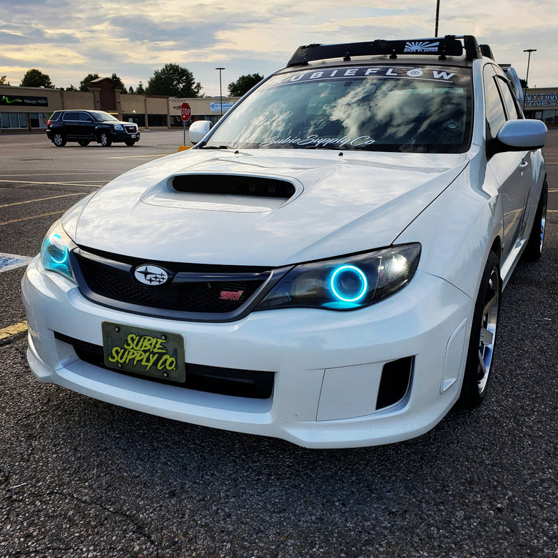 WHITE FRONT AND REAR SUBARU EMBLEMS