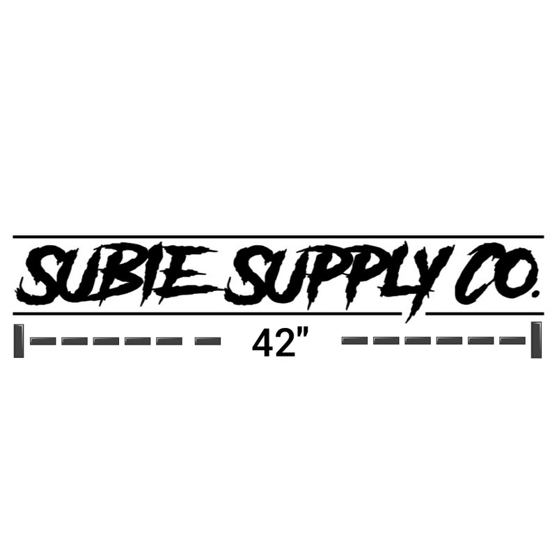 "SUBIE SUPPLY CO 42"" WINDSHIELD BANNER"