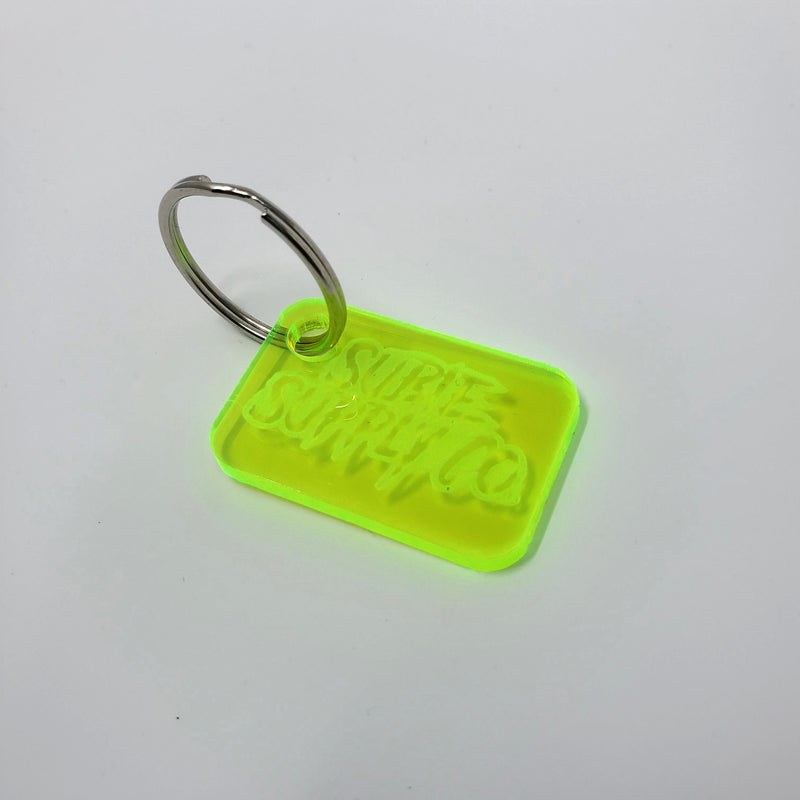 SUBIE SUPPLY CO LASER ENGRAVED ACRYLIC KEY CHAIN