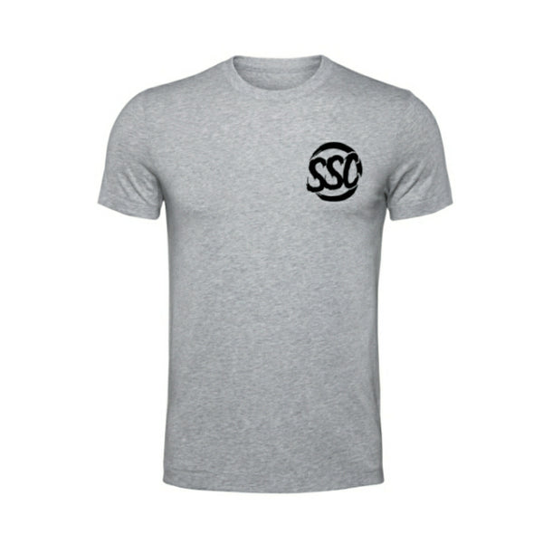SUBIE SUPPLY CO T-SHIRT - ANTI SOCIAL - GREY/BLACK