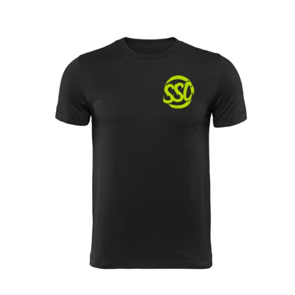 SUBIE SUPPLY CO T-SHIRT - CLASSIC - BLACK/NEON GREEN