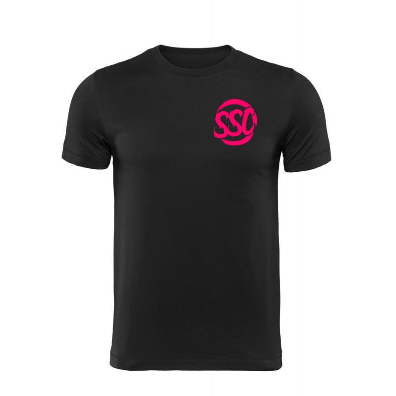 SUBIE SUPPLY CO T-SHIRT - CLASSIC - BLACK/NEON PINK