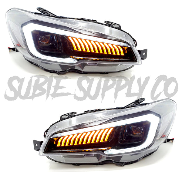 V-LAND DUAL BEAM PROJECTOR SEQUENTIAL HEADLIGHTS - 2015+ WRX/STI