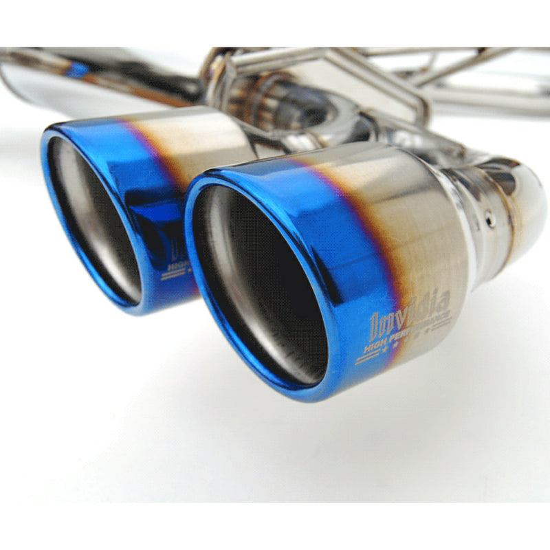 INVIDIA Q300 STAINLESS STEEL EXHAUST - TITANIUM TIPS - 08-14 STI HATCHBACK, 11-14 WRX HATCHBACK