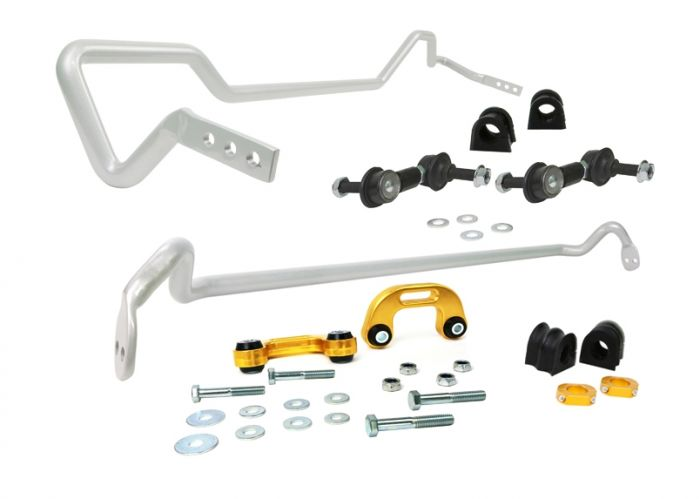 WHITELINE FRONT AND REAR ADJUSTABLE SWAY BAR KIT - 22MM - 04-07 WRX SEDAN