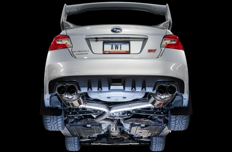 AWE TUNING TOURING EDITION CAT BACK EXHAUST - DIAMOND BLACK TIPS - 15-20 WRX